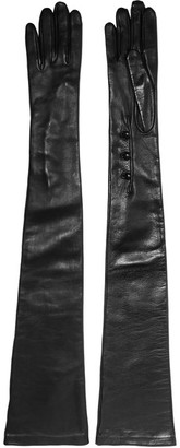 Alexander McQueen - Leather Gloves - Black $765 thestylecure.com