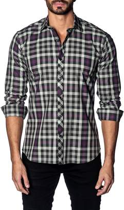 Jared Lang Slim Fit Check Sport Shirt