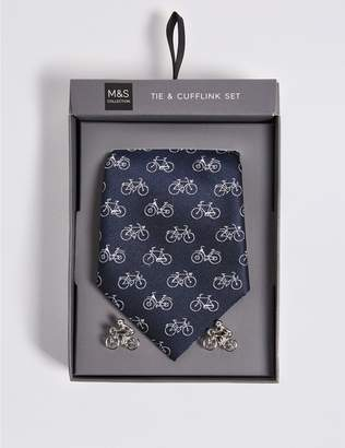 Marks and Spencer Bicycle Tie & Cuff Set