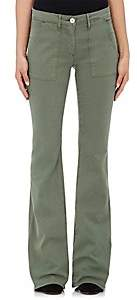 3x1 WOMEN'S W2 COTTON-BLEND MILITARY FLARE PANTS-OLIVE SIZE 24