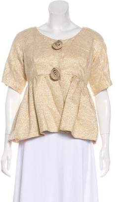 Anna Sui Metallic Evening Jacket