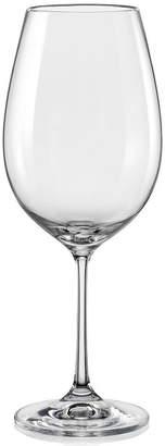 Asstd National Brand Red Vanilla Viola Set of 6 Red Wine Glasses