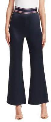 Peter Pilotto Satin Side Stripe Flared Pants