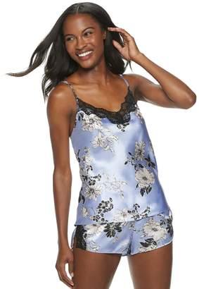 Apt. 9 Women's Floral Satin Camisole & Pajama Shorts Set