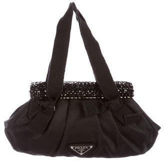 prada Prada Embellished Tessuto Bright Bag