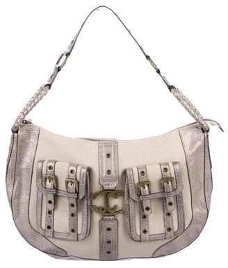 Just Cavalli Canvas Shoulder Bag