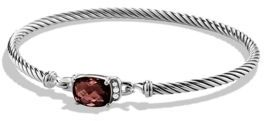 David Yurman Petite Wheaton Bracelet with Diamonds $550 thestylecure.com
