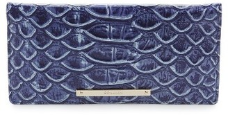 Women's Brahmin Ady Croc Embossed Continental Wallet - Blue $95 thestylecure.com
