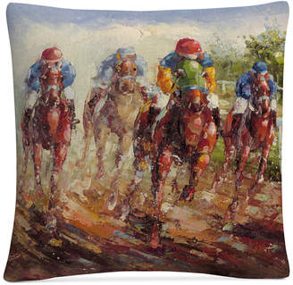 "Trademark Global Rio Kentucky Derby 16"" x 16"" Decorative Throw Pillow"