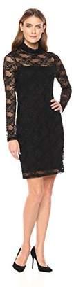 Karen Kane Women's Turtleneck Lace Dress