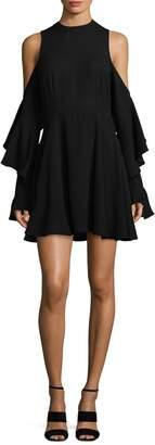Allison Collection Women's A-Line Cold-Shoulder Dress