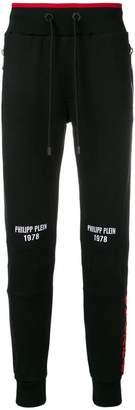 Philipp Plein contrast waistband track pants