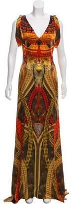 Alexander McQueen Printed Silk Evening Dress