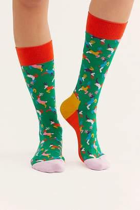 Happy Socks Spirit Animal Reindeer Sock