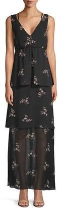 BCBGeneration Women's Floral Evening Dress