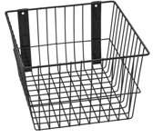 """Rack'Em Racks Rack'Em 9089-B Mount Anywhere Black Wire Basket 24""""x6""""x8"""" provides versatile storage all of your outdoor gear, supplies and organizational needs."""