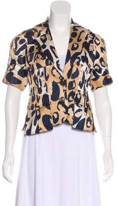 Diane von Furstenberg Leopard Print Casual Jacket