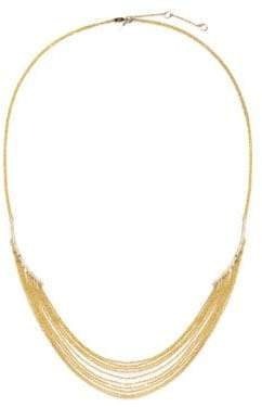 Celara 14K Yellow Gold& Diamond Statement Necklace