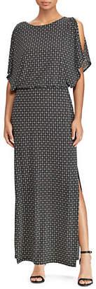 Lauren Ralph Lauren Geo-Print Jersey Maxi Dress
