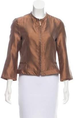 Agnona Silk Shantung Jacket