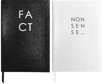 Sloane Stationery Fact & Nonsense Monochrome Journals