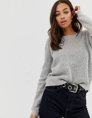 Vero Moda Round Neck Sweater With Curved Hem