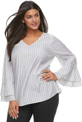 Apt. 9 Plus Size Double Bell Sleeve Top