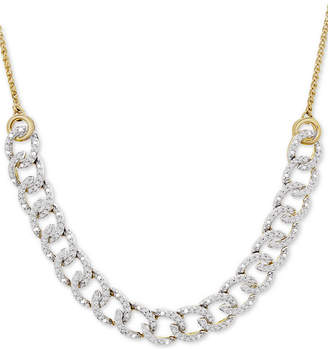 """Wrapped in Love Diamond Chain Link Adjustable 26"""" Bolo Necklace (1/2 ct. t.w.) in 10k Gold"""