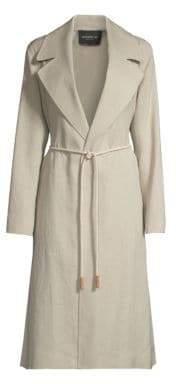 Lafayette 148 New York Zelida Canvas Cloth Trench Coat