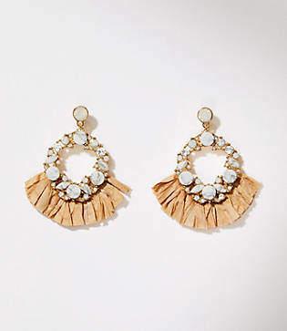 LOFT Raffia Stone Drop Earrings