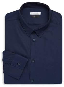 Versace Textured Cotton Dress Shirt