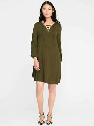Lace-Up Swing Dress for Women $34.99 thestylecure.com