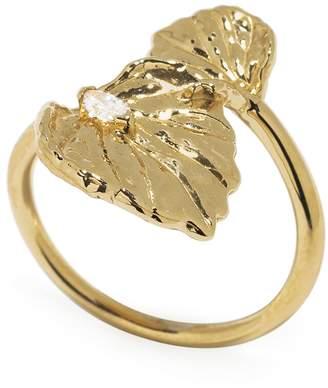 Jordan Askill Double Leaf Diamond Ring - Yellow Gold