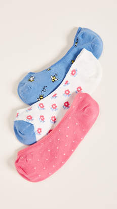 Kate Spade A Buzz Liner Sock 3 Pack