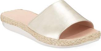 Tommy Bahama Indira Metallic Espadrille Slide Sandals
