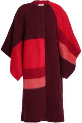 Roksanda Casentino Color-Block Brushed Wool-Blend Coat