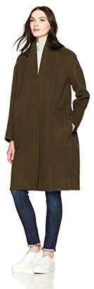 Vince Women's High Collar V-Neck Coat