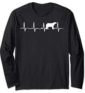 Polar Bear Heartbeat Long Sleeve T Shirt