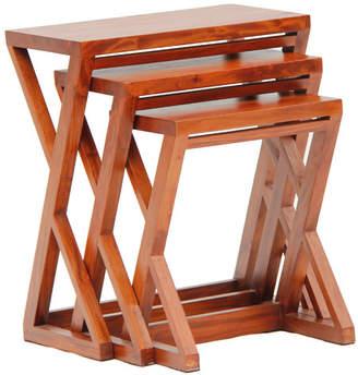 Set Of 3 Danielle Z Shape Nesting Tables
