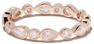De Beers 18kt rose gold Petal diamond band