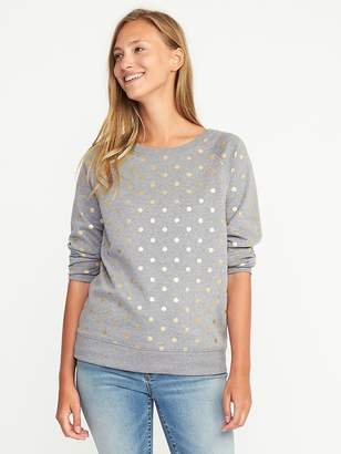 Printed French-Terry Sweatshirt for Women $29.99 thestylecure.com