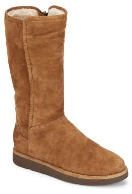 Abree Shearling-Lined Tall Suede Boots $295 thestylecure.com