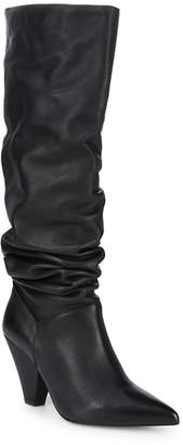 Saks Fifth Avenue Women's Point Toe Leather Knee-High Boots