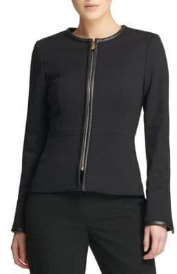 Donna Karan Fall 18 Ponte Zip Jacket