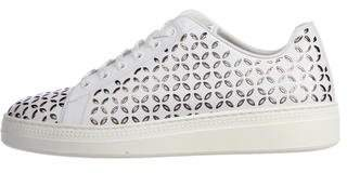 Alaia Leather Laser Cut Sneakers w/ Tags