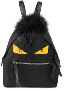 Fendi Monster Nylon, Leather & Mini Fur Backpack
