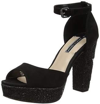 Dorothy Perkins Women's Glitter Star Platform Sandals,38 EU