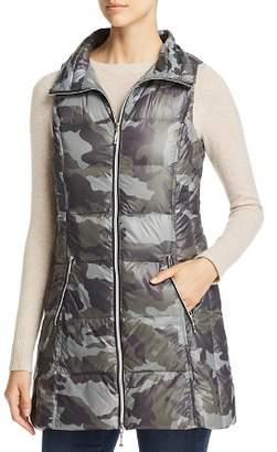Fillmore Camo Print Long Down Puffer Vest