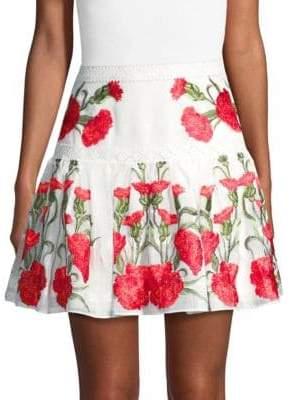 Alexis Beda Floral Mini Skirt