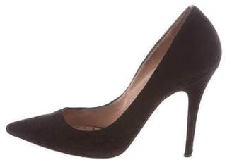 Jean-Michel Cazabat Suede Pointed-Toe Pumps